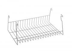 Ablagekorb für Besucherstühle ISO, 4-Fuß Verchromt