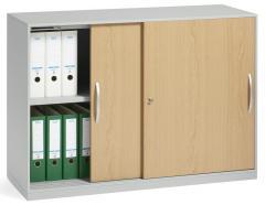 Schiebetürenschrank DELTAFLEXX Türen Holz | Buchedekor | 837 mm (2 OH)