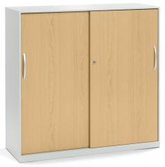 Schiebetürenschrank DELTAFLEXX Türen Holz | Buchedekor | 1150 mm (3 OH)