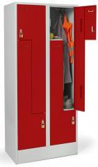 Z-Garderoben-Stahlspinde mit glatten Türen