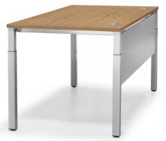 Schreibtisch 4-Fuß PROFI MODUL Nussdekor | 800 | Alusilber RAL 9006