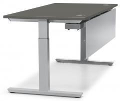 Schreibtisch T-Fuß PROFI MODUL Anthrazit | 1200 | Alusilber RAL 9006