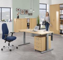 Schreibtisch T-Fuß PROFI MODUL