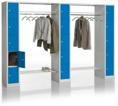 Garderoben-/Kombination SP3 Himmelblau RAL 5015 | 2930