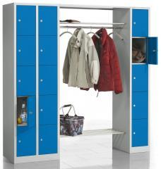Garderoben-/Kombination SP Himmelblau RAL 5015 | 1900 | 3 | 15