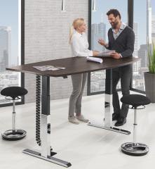 Sitz-/Stehbesprechungstisch, höhenverstellbar 640-1300mm