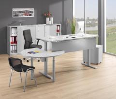 Anbau- und Verkettungsplatten für Sitz-/Stehtische