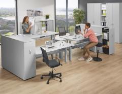 Sitz-/Steh Doppelarbeitsplatz BENCH PROFI MODUL