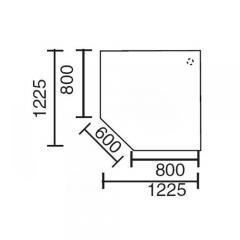 Verkettungsplatte BASE LINE Lichtgrau | 90° Quadrat
