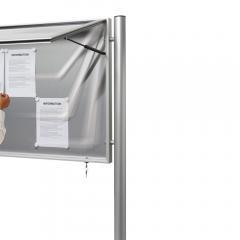 Aluminium-Ständer Rundrohr zum Einbetonieren | Rundrohr