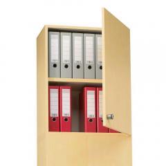 Aufsatz-Flügeltürenschrank PROFI MODUL Schrankwand Buchedekor | 600 | Aufsatzelement, Anschlag rechts | 750 mm(2 OH)