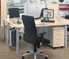 Schreibtisch CONCEPT MODUL Ahorndekor | 1600 | 800 | Rechteck