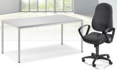 SET-Angebot Schreibtisch und Bürodrehstuhl