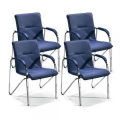 4-er Set Besucherstühle ARKAS Blau
