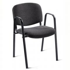 Besucherstuhl ISO mit Armlehnen - Gestell schwarz