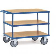 Schwere Tischwagen bis 600 kg, mit 3 Böden,