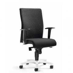 Bürodrehstuhl PROFI ART inkl. Armlehnen Schwarz Karo Grau | verstellbare Armlehnen