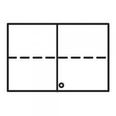 Aufsatz-Flügeltürenschrank PROFI MODUL Schrankwand Weiß | 1200 | Aufsatzelement | 750 mm(2 OH)
