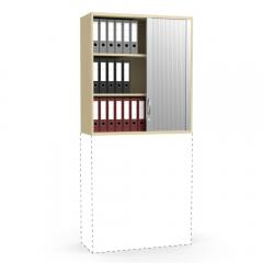 Rollladen-Aufsatzschrank iMODUL Buchedekor | 1000 | 1110 mm (3 OH)