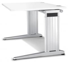 Schreibtisch C-Fuß PROFI MODUL Weiß | 1200 | Rechteck
