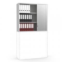 Rollladen-Aufsatzschrank iMODUL Lichtgrau | 1200 | 1110 mm (3 OH)