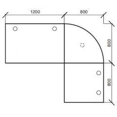 Winkelkombination Comfort 2.0 MULTI MODUL Weiß | 2000 | 1600 | Anthrazit RAL 7021 | Winkelkombination rund