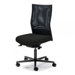 Bürodrehstuhl winSIT NET ohne Armlehnen Schwarz | Sitzneigeverstellung-Automatik, Sitztiefenverstellung, Synchronmechanik