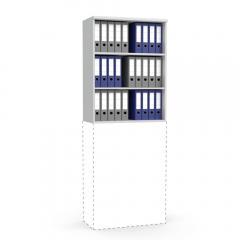 Aufsatzregal MULTI MODUL Lichtgrau | 800 | 1055 mm (3 OH)