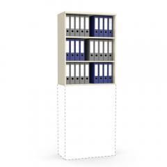 Aufsatzregal MULTI MODUL Ahorndekor | 800 | 1055 mm (3 OH)