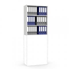 Aufsatzregal MULTI MODUL Weiß | 800 | 1055 mm (3 OH)
