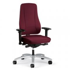 Bürodrehstuhl UNIQUE hohe Lehne ohne Arml. Fuß alusilber