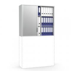Rollladen-Aufsatzschrank MULTI MODUL Lichtgrau | 1055 mm (3 OH)