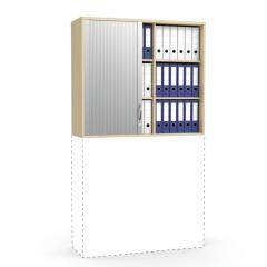 Rollladen-Aufsatzschrank MULTI MODUL Buchedekor | 1055 mm (3 OH)