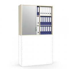 Rollladen-Aufsatzschrank MULTI MODUL Ahorndekor | 1055 mm (3 OH)