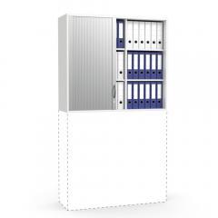 Rollladen-Aufsatzschrank MULTI MODUL Weiß | 1055 mm (3 OH)