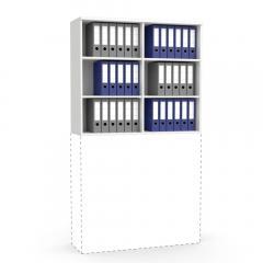 Aufsatzregal MULTI MODUL Weiß | 1200 | 1055 mm (3 OH)