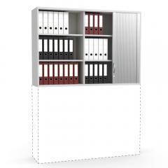 Rollladen-Aufsatzschrank iMODUL Lichtgrau | 1600 | 1110 mm (3 OH)