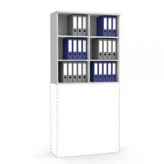 Aufsatzregal MULTI MODUL Lichtgrau | 1000 | 1055 mm (3 OH)