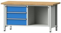 Werkbänke SERIE ERGO - 3 Schubladen, 1 Fach