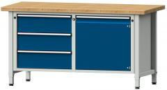 Werkbänke SERIE ERGO - 3 Schubladen, 1 Tür