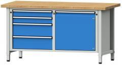 Werkbänke SERIE ERGO - 2 + 2 Schubladen, 1 Tür