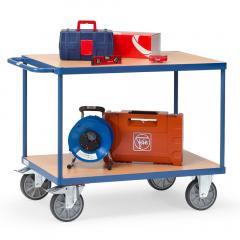 Tischwagen mit 2 Etagen, 600 Kg Tragkraft