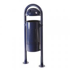 Standabfallbehälter mit Regenhaube - optional mit Ascher