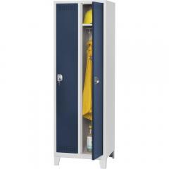 Garderoben-Stahlspind SP PROFI SYSTEM mit Füßen Stahlblau RAL 5011   300   2   Zylinderschloss