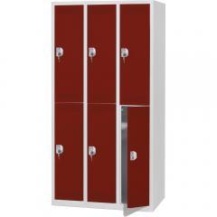 Doppelstöckige Garderoben-Stahlspinde SP PROFI SYSTEM ohne Unterbau