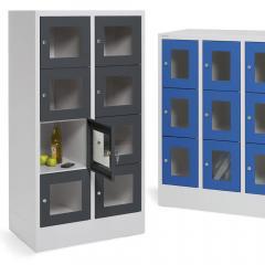 Schließfach-Stahlschränke CLASSIC mit Sichtfenstertüren