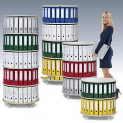 Ordnerdrehsäulen Ø 800 mm - einzeln drehbare Etagen