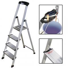 Stufenleiter mit XXL-tiefen Stufen und Multifunktionsschale