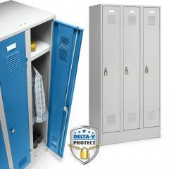 Garderoben-Stahlspinde Serie Delta PROTECT mit Sockel