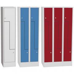Z-Garderoben Stahlspinde mit glatten Türen